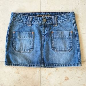 American Eagle Jean skirt mini SZ 0